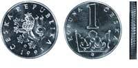 Чешская крона имеет монету минимального достоинства в 1 крону