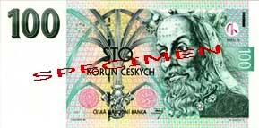 Сто крон чешских наиболее популярная наличная валюта