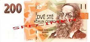 Двести крон чешских по курс чешской кроны к доллару около 10 USD