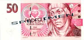 Чешская крона- купюра в пятьдесят крон
